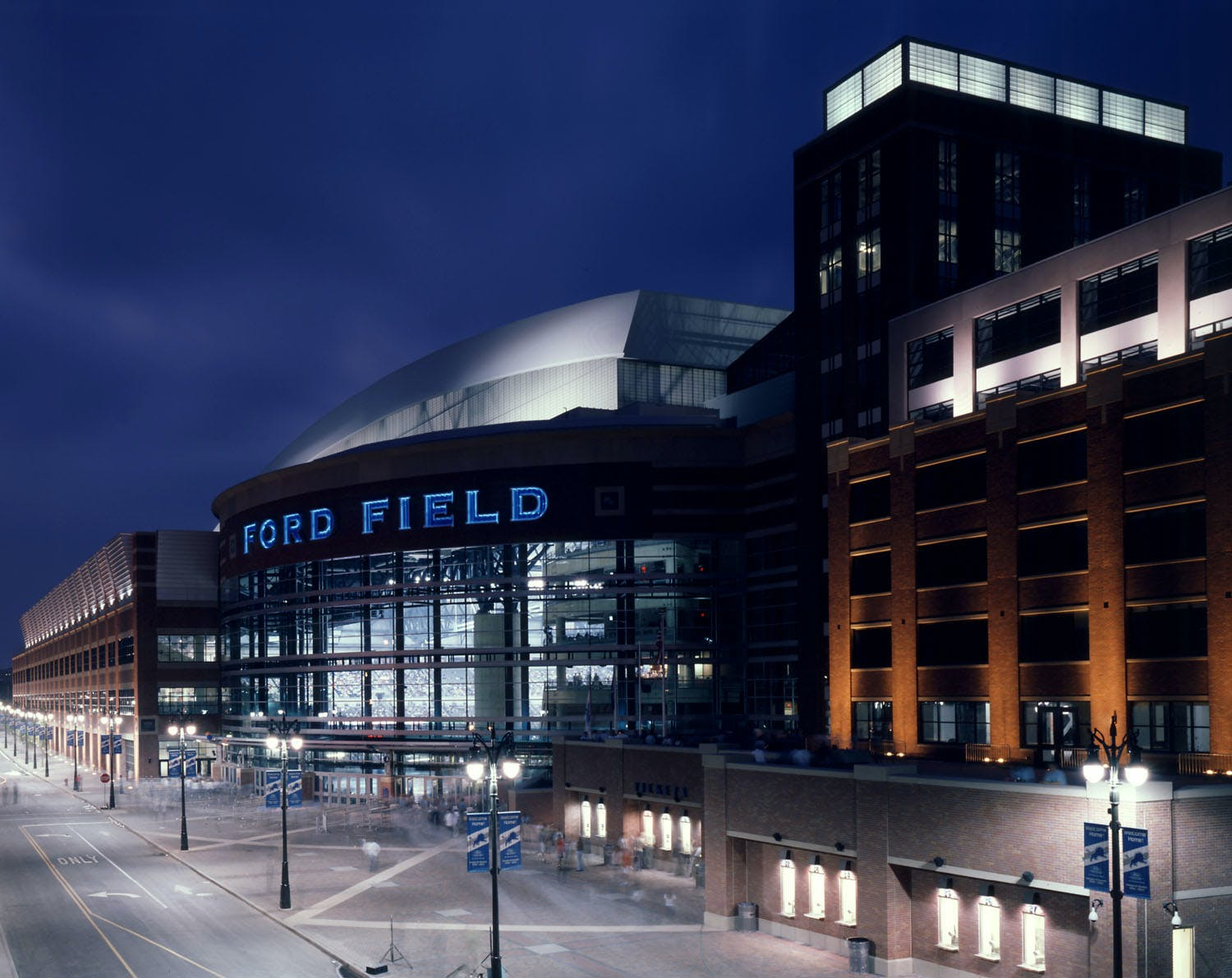ford field home of the nfl detroit lions rossetti. Black Bedroom Furniture Sets. Home Design Ideas