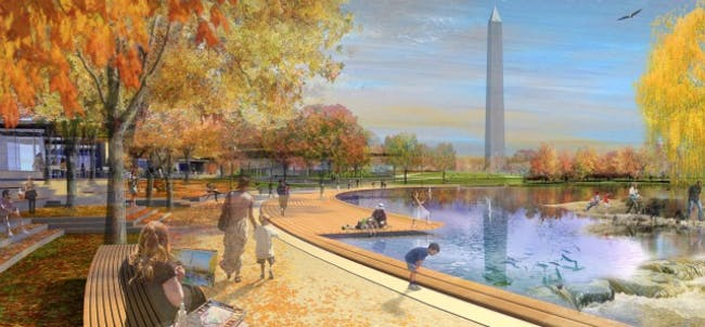 proposed design for Constitution Gardens by Andropogon + Bohlin Cywinski Jackson