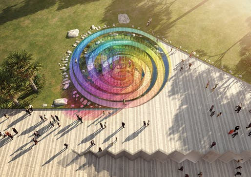 """The Rainbow Serpent"", a submission to the Land Art Generator Initiative (LAGI) 2018 Competition for Melbourne. TEAM: Arthur Stefenbergs, Lucian Racovitan, Keith Mc Geough, Ovidiu Munteanu. TEAM LOCATION: Sydney, Australia. ENERGY TECHNOLOGIES: luminesce"