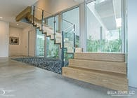 Custom Center-beam & Glass Inlay Railings