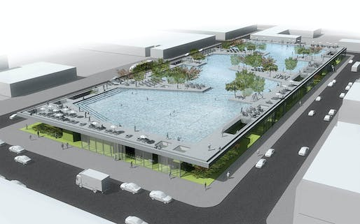 Detail of the winning project in the category Community Programming: Flood Courts Gowanus by Josip Zaninović, Krešimir Renić, Ana Ranogajec, Tamara Marić, and Branko Palić from Zagreb, Croatia
