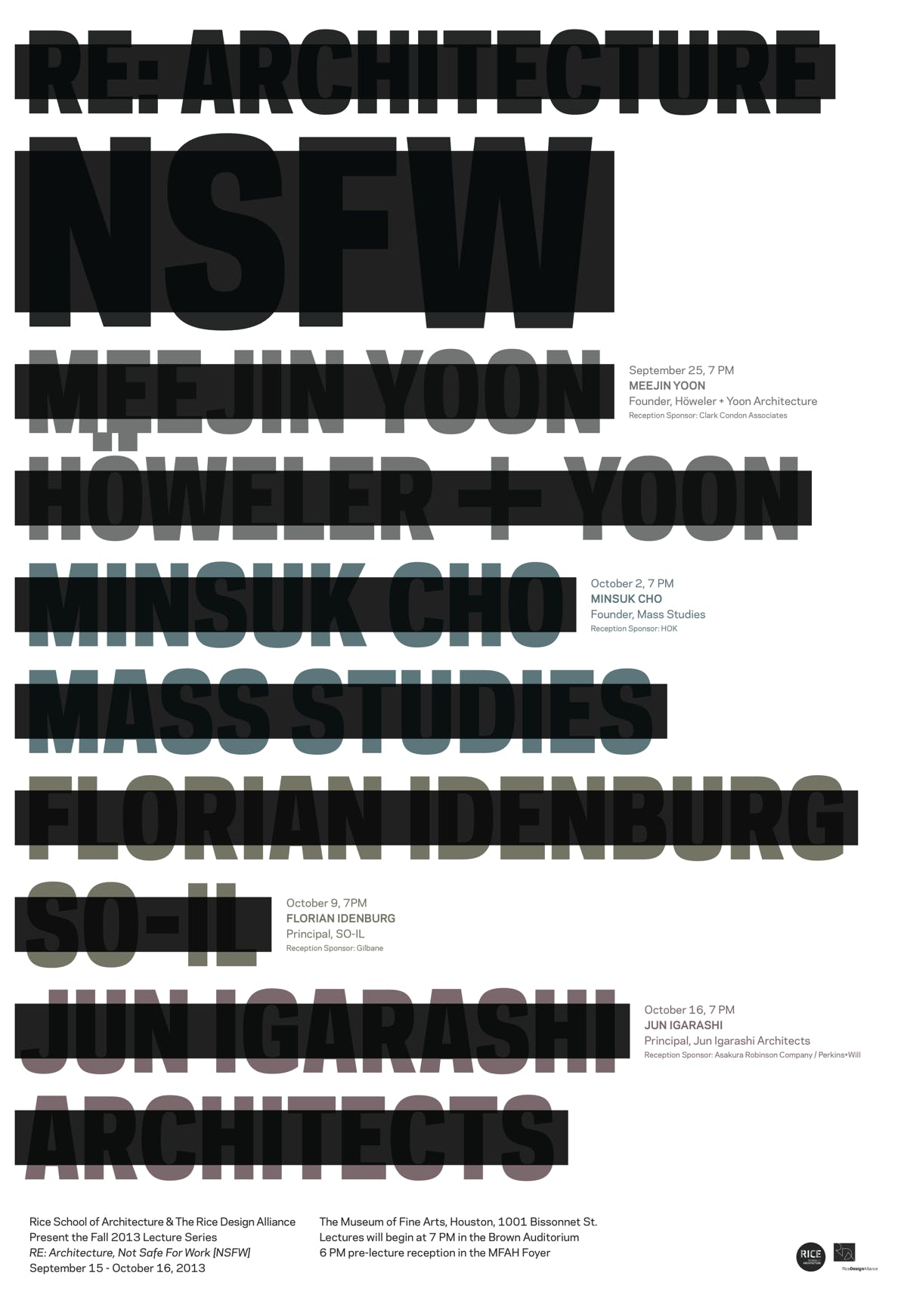 Get Lectured Rice School Of Architecture Fall News Archinect