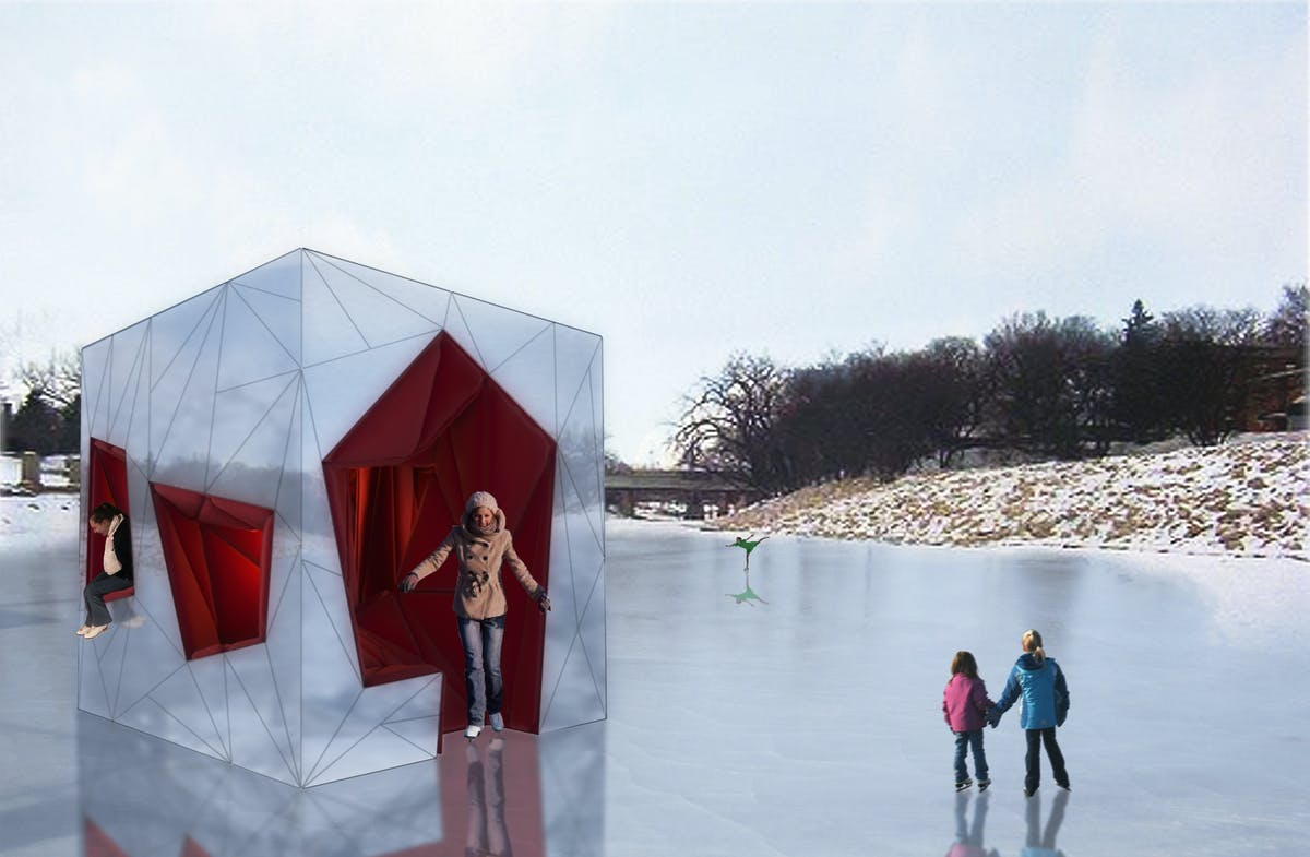 Ice Womb Warming Hut Virginia Melnyk Archinect