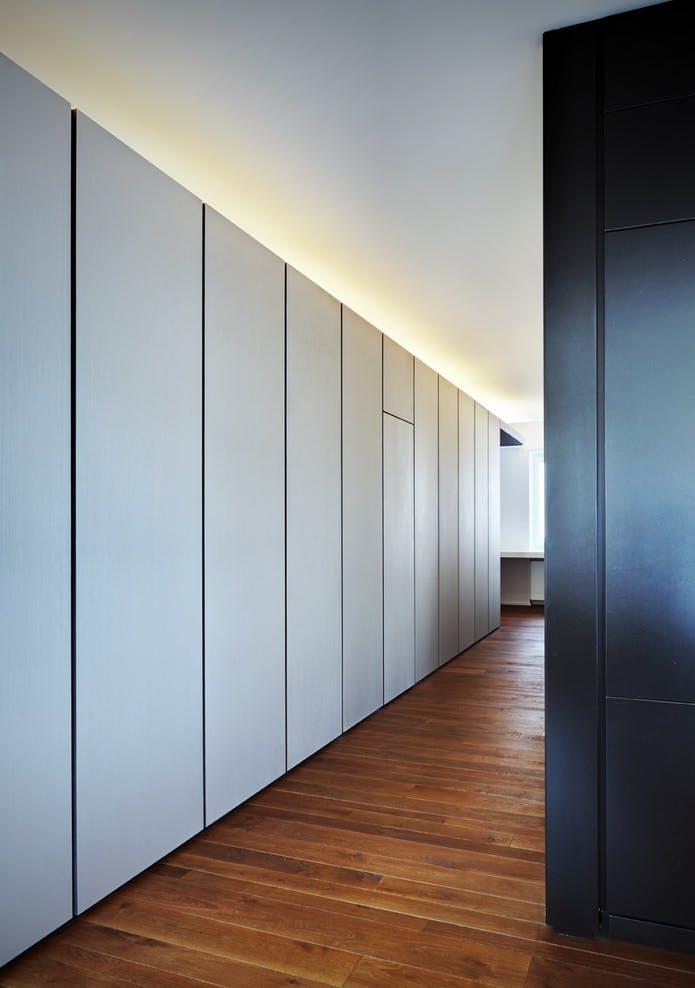Apartment t arkham project archinect - Panelado de paredes ...