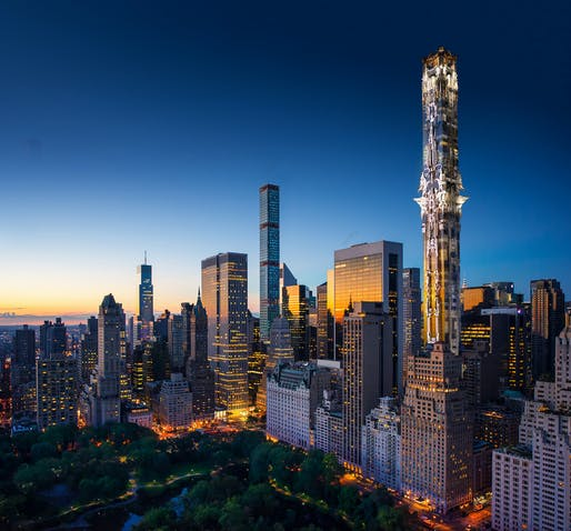 41 West 57th Street a.k.a. The Khaleesi. Image: Mark Foster Gage Architects.