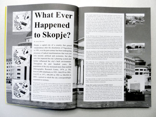 Pages 04-05. Jasna Mariotti uses Skopje Constitutional Court as an example of the city's recent transition.