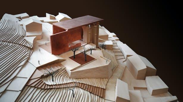 AQSO arquitectos office. Atienza concert hall. Model