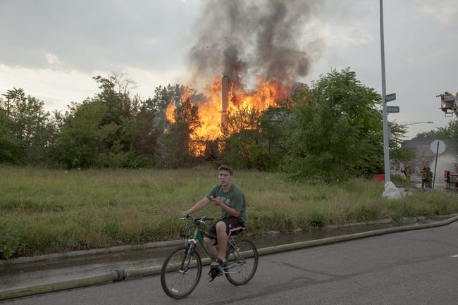 Geoff George. 'House Fire, 2013.' Photo: thearchitecturalimagination.org/mydetroit.