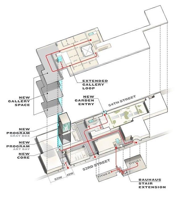 Concept design for MoMA. Axonometric plan