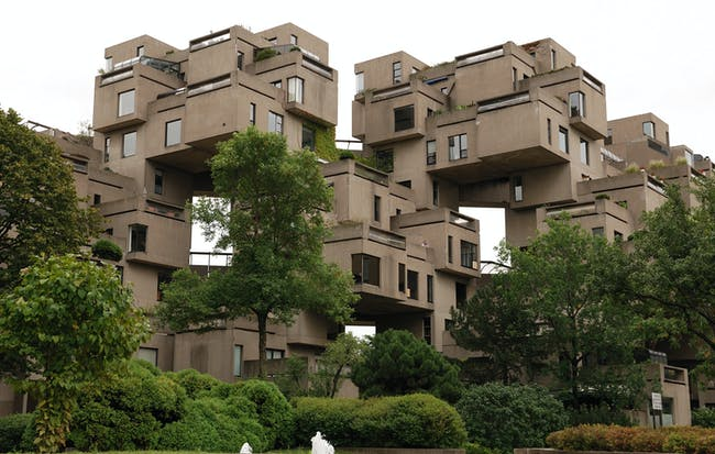 Habitat '67 for Montreal's 1967 World's Fair. Photo by Magnus Manske via Wikipedia.