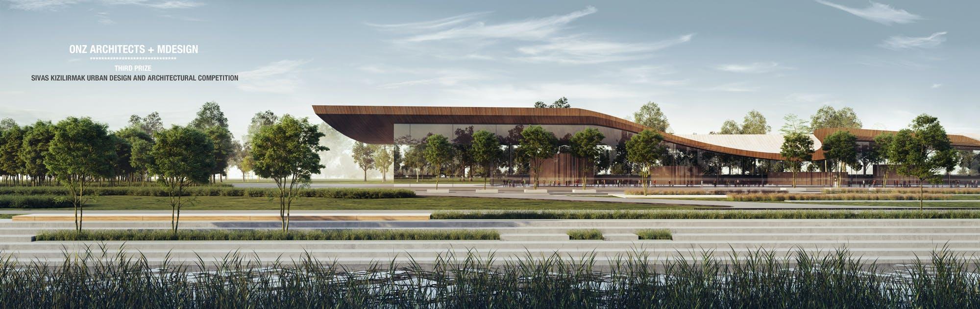 Onwijs ONZ Architecs + Mdesign won the 3rd Prize in Kızılırmak River Bank AC-07