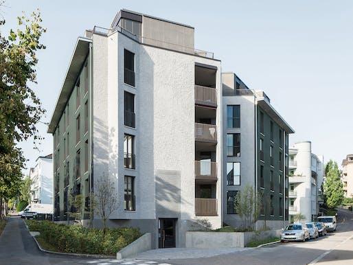 Allenmoosstrasse residential building by Michael Meier und Marius Hug Architekten. Photo: Roman Keller.