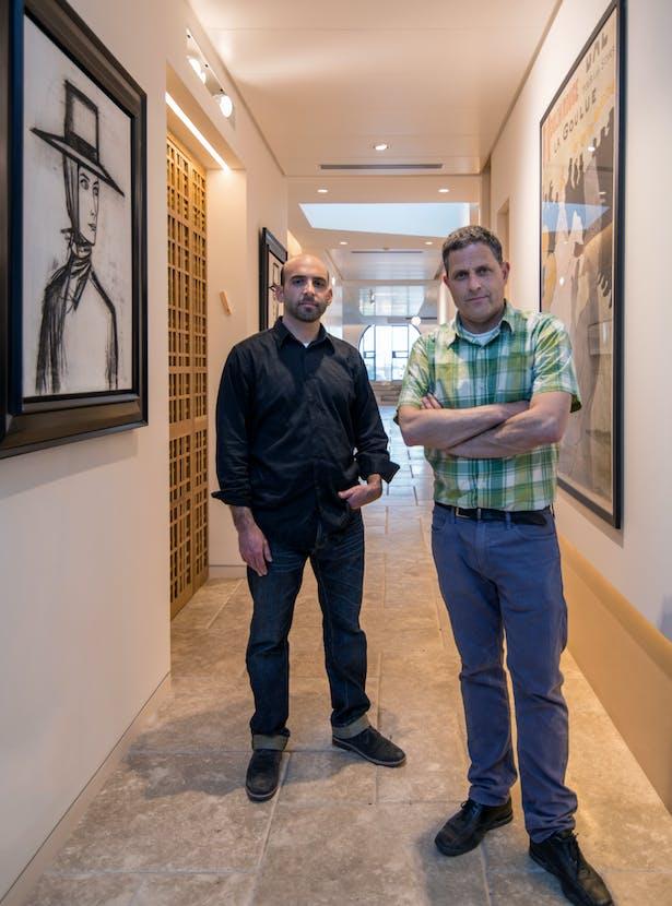 Architects Matti Rosenshine(R) & Elliot Lazarus