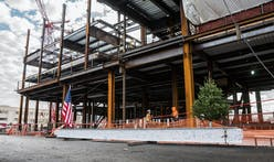 Harvard's new Behnisch-designed Science and Engineering Complex tops out