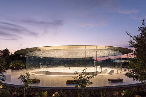 Award for Structural Artistry: Steve Jobs Theatre Pavilion. Photo: Nigel Young & Foster+Partners.