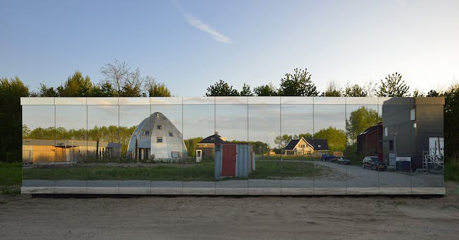 Mirror House in Almere-Stad, the Netherlands by Johan Selbing Architecture in collaboration with Anouk Vogel
