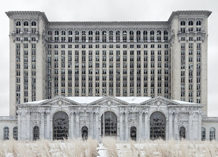 'Depot (Michigan Central Station),' (2012) by Jennifer Garza-Cuen, part of the 'My Detroit Postcard Project' for 'the Architectural Imagination.'