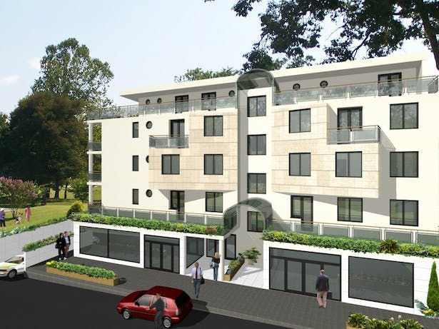 Conception for residential building in Switzerland - North elevation
