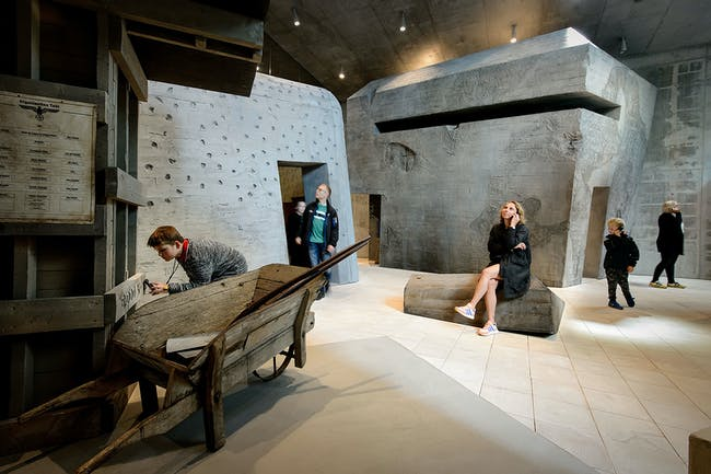 Bunker landscape in the Army of Concrete exhibition. Photo: Mike Bink.