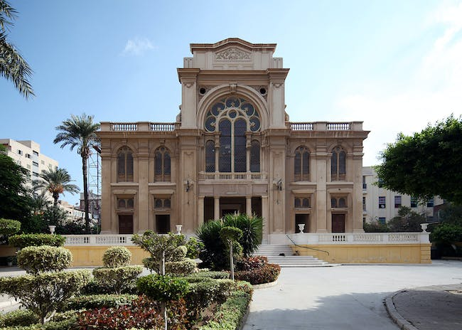 Eliyahu Hanavi Synagogue, in Alexandria, Egypt. Alexandria's Eliyahu Hanavi Synagogue, seen from Nebi Daniel Street, 2012. Photo: Roland Unger