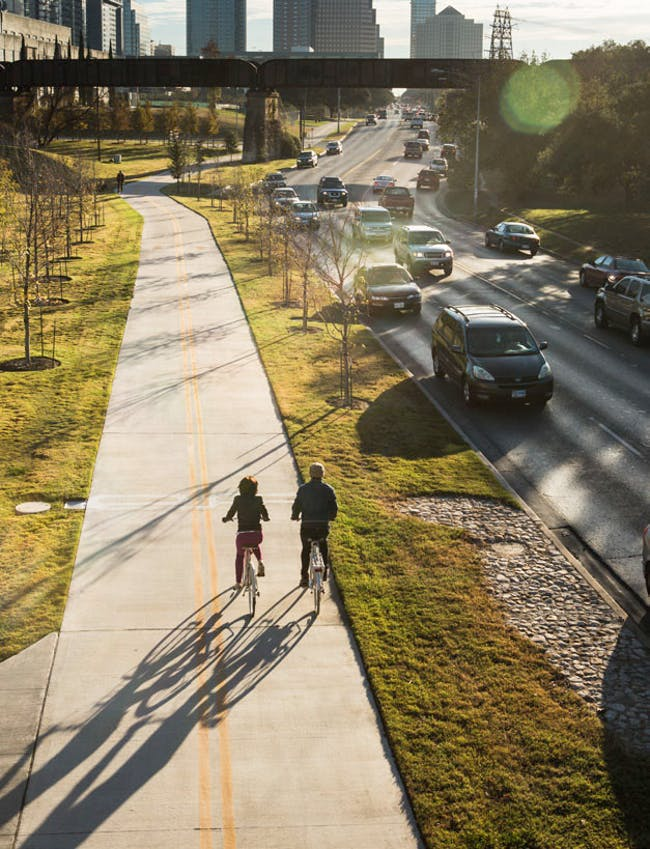 Lance Armstrong Bikeway, Austin, TX. Image via PeopleForBikes.