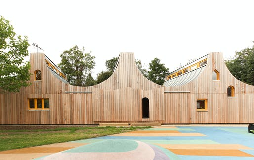 RIBA London Client of the Year Award: Belvue School Woodland Classrooms by Studio Weave.