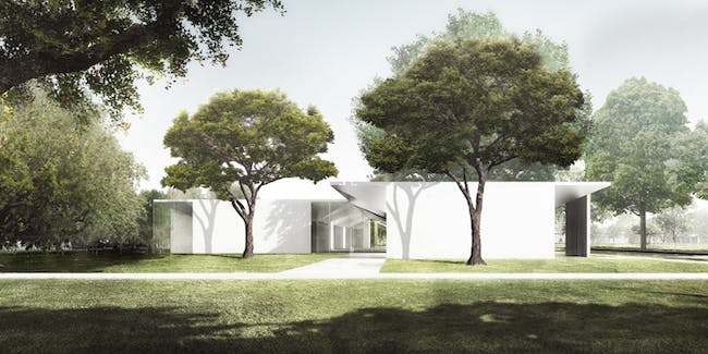 A rendering of the Menil Drawing Institute. Credit: Johnston Marklee