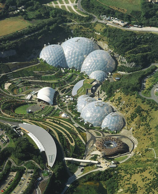 The Eden Project in Cornwall by Nicholas Grimshaw. Photo by Sealand Aerial Photography.
