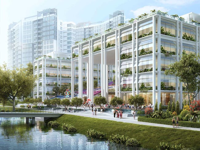 FUTURE PROJECTS - Commercial Mixed Use winner: Gardens at Punggol | Singapore. Designed by Serie + Multiply Consultants.