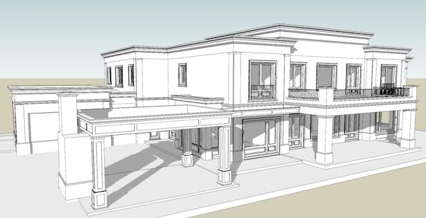 3D CAD Model + Sketchup