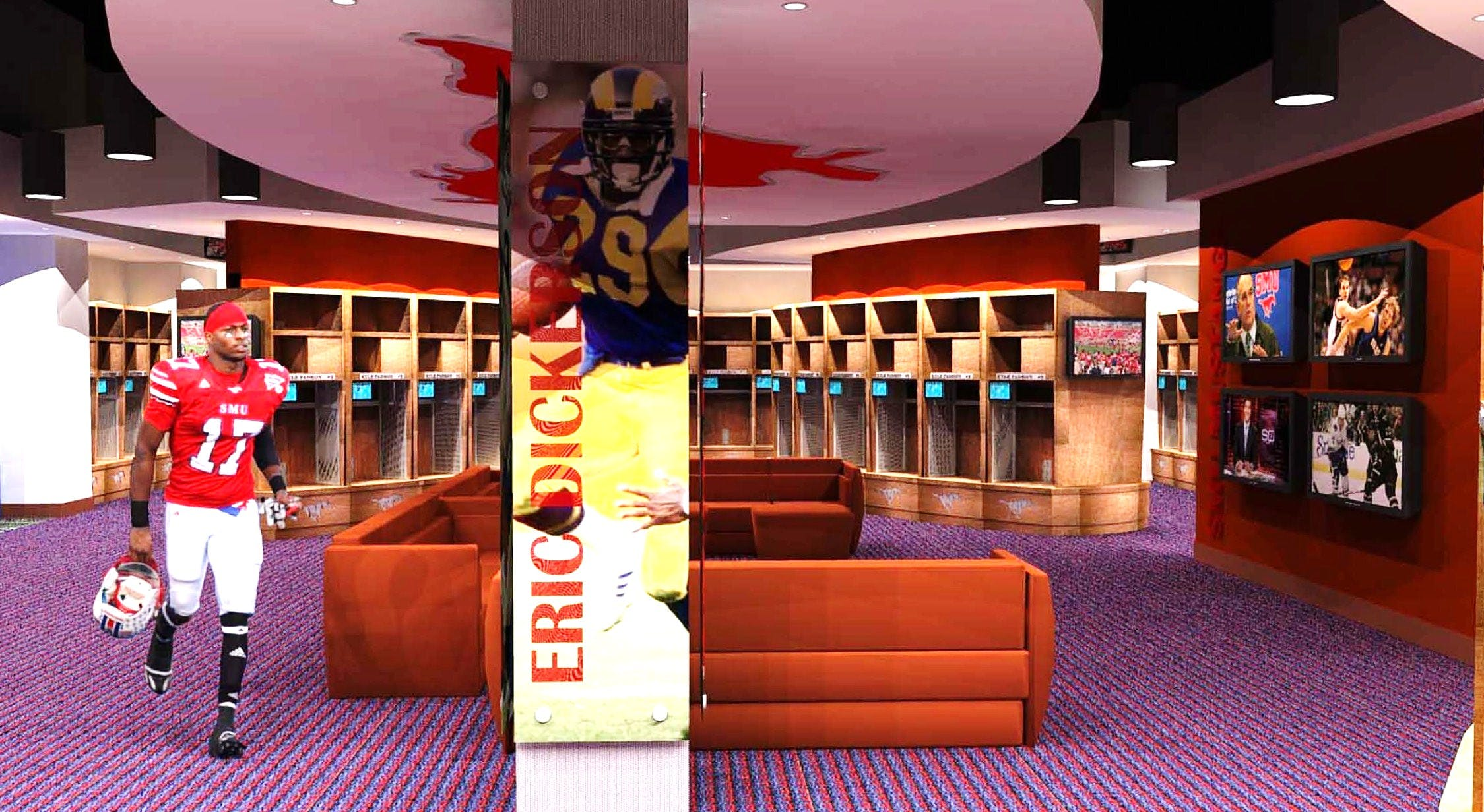 Colleges In Ct >> SMU Ford Field Football Locker Room Renovation   J Michael Anderson   Archinect