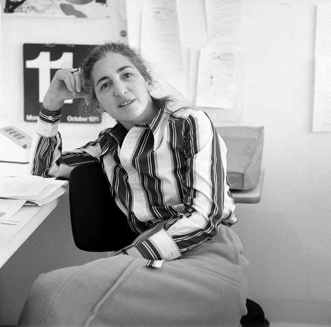 Mildred Friedman in the Walker Design Studio, 1971 - Photo from Walker Art Center Archives