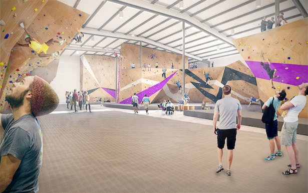 Crux will be light and spacious for the day-to-day athlete as shown here, but will also offer enough space to accommodate world-class competitions and events.