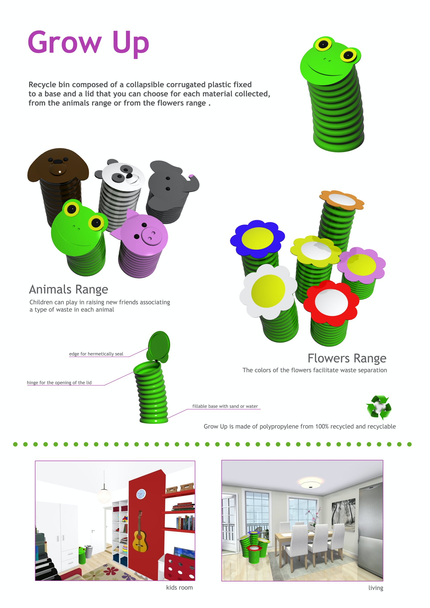 Sealed Grow Room Design: Grow Up! Collapsible Recycle Bin. You Could Use These