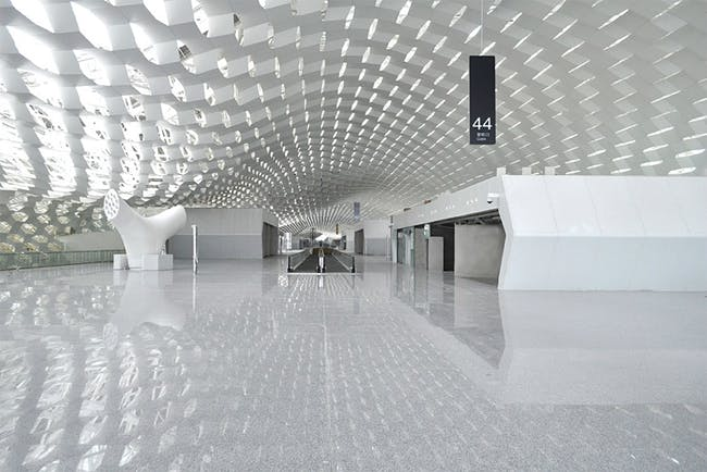 The terminal is a total size of 500,000 sq.m/5,381,955 sq.ft (approx). Image © Studio Fuksas