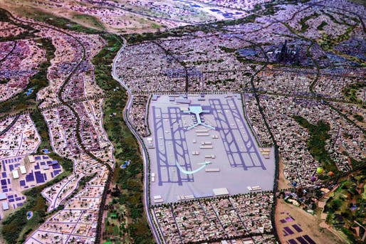 "A model of Egypt's collosally ambitious ""New Capital"" project. (Image via spiegel.de)"