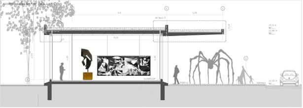 exhibition (art center) section