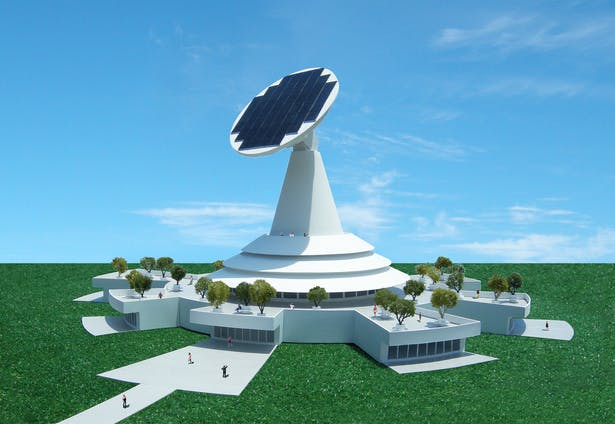 The Solar Science Center, powered by the sun.