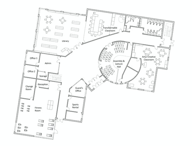 School ground floor plan