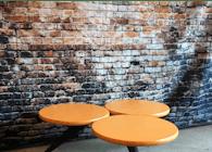 Orange Tri-Circle Coffee Table (USB CHARGING)