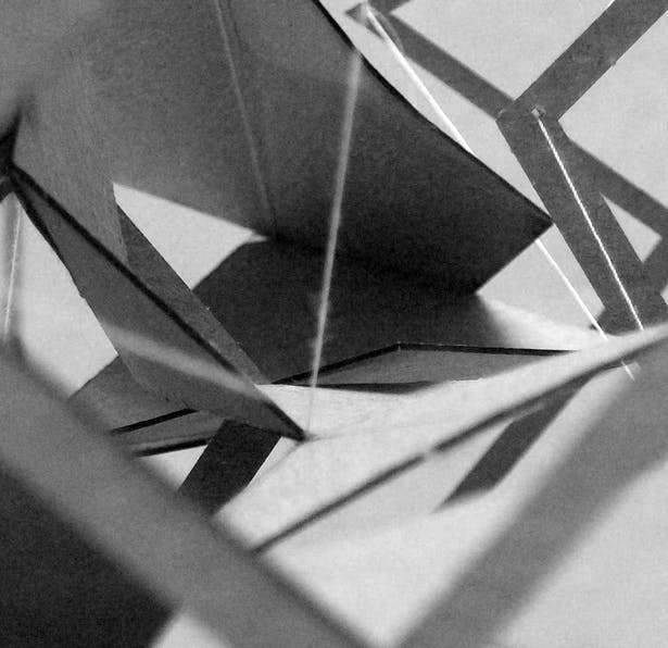 Study Model- Folding Tensegrity-Space & Circulation