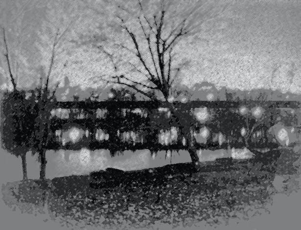 Huron River View Sketch
