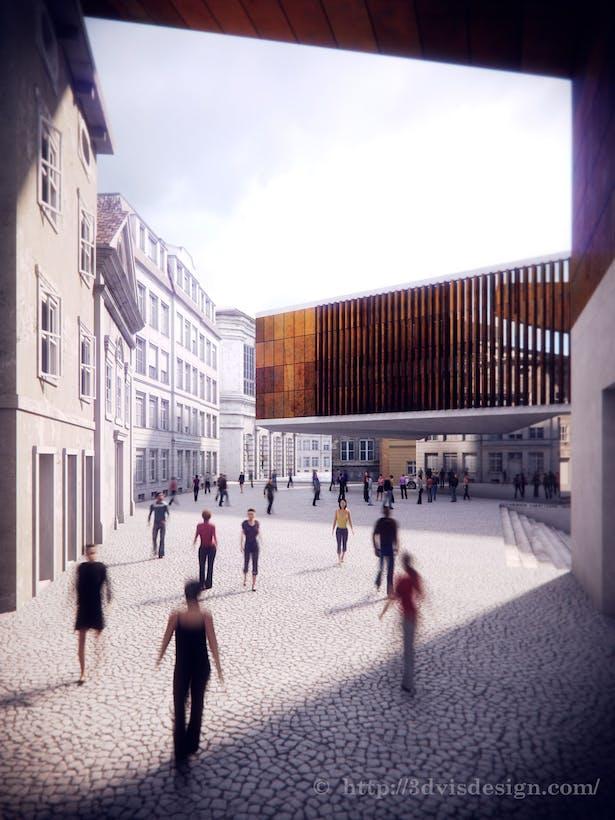 Architecture concept of Cinema hall