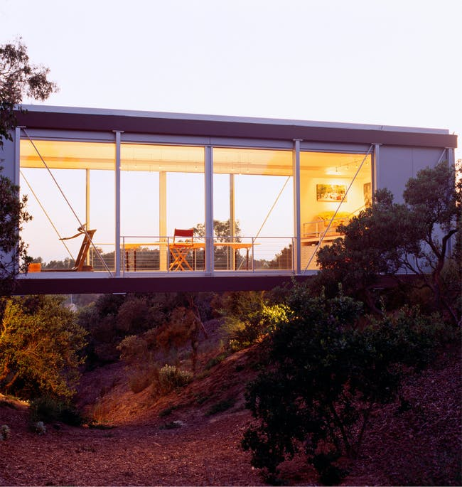 House for Two Artists in San Diego, CA by Safdie Rabines Architects