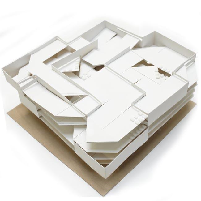 16inx16in Paper Model