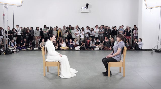 Marina abramovic tries to kickstart oma designed art institute marina abramovic the artist is present 2010 moma thecheapjerseys Image collections