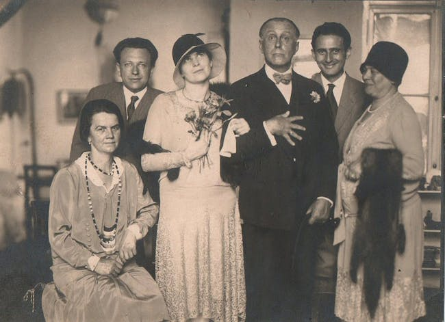 From 'Adolf Loos, A Private Portrait': Claire and Adolf Loos at their wedding. Image courtesy of DoppelHouse Press
