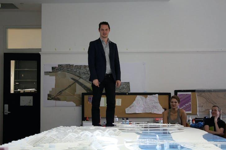 Julien De Smedt reviewing model