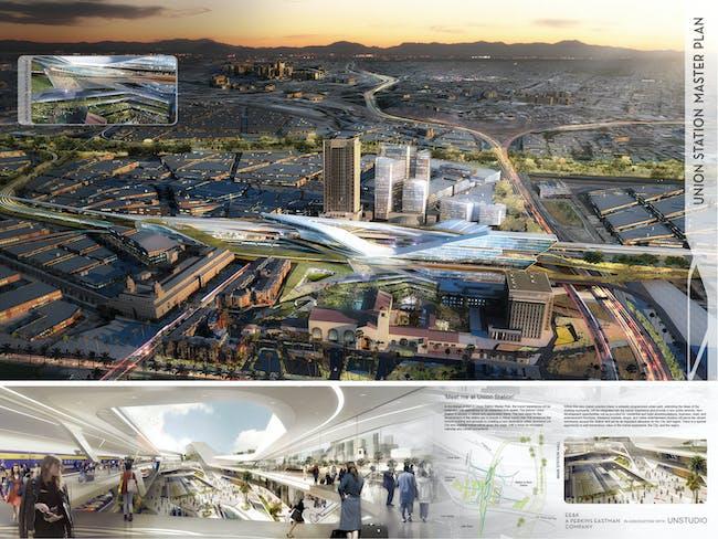 Los Angeles Union Station Master Plan, complete 'Vision Board' (Image: UNStudio)