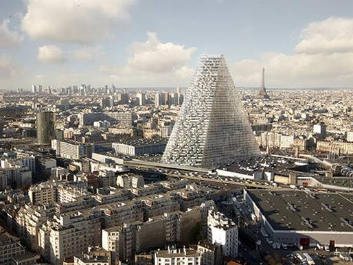 Herzog & de Meuron's rendering of Tour Triangle.